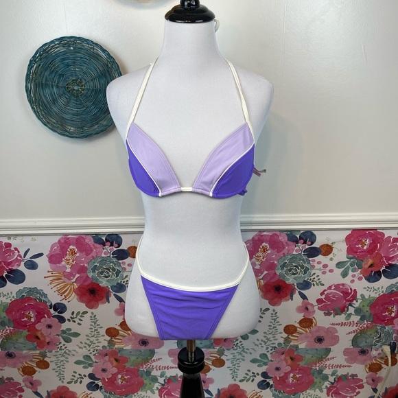 Vintage 90s Victorias Secret Purple Bikini Set M